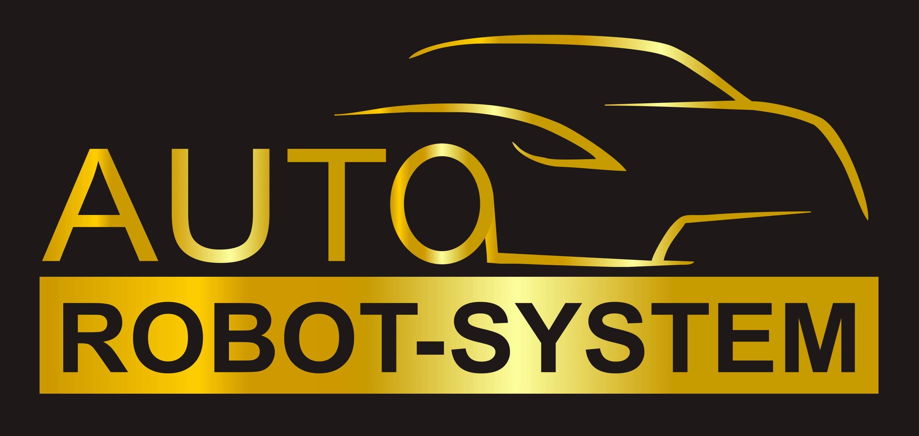 Auto robot sytem - logo złoty bez bieli